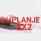 duplanje $X2