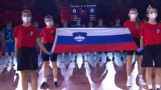 SHAME ON YOU POLAND! WRONG ANTHEM FOR SLOVENIA! EUROVOLLEY
