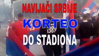 Korteo navijača Srbije u Beču 📣 Navijači Srbije na putu ka stadionu 📹 Serbian fans in Vienna