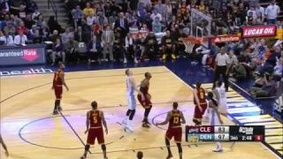 Nikola Jokic posts up LeBron James and scores | March 22, 2017