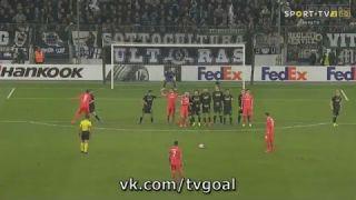 Federico Bernardeschi Free Kick Goal - Gladbach vs Fiorentina - 16/02/2017