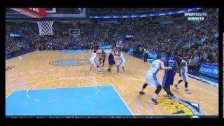 Gerald Henderson poster dunk on Jusuf Nurkic: Charlotte Hornets at Denver Nuggets