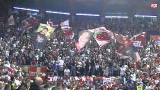 Ludnica u Pioniru pre pocetka utakmice Crvena zvezda - Lokomotiva